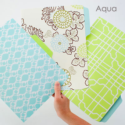 colorful and decorative file folders are available from many online retailers
