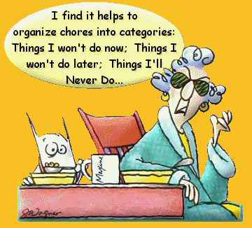 Procrastination - cartoon