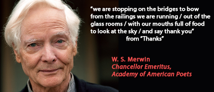 w.s. merwin essays The ends of the earth: essays by merwin, ws counterpoint used - good former library book shows some signs of wear, and may have some markings on the inside 100.