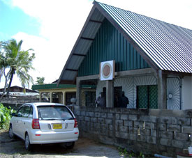 The meeting hall in Paramaribo