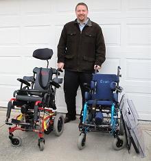 Michael Kubik with Wheelchairs