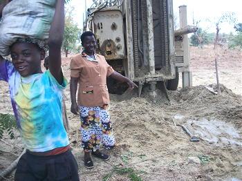 Nester Phiri by Drilling Machine