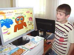 Boy at monitor