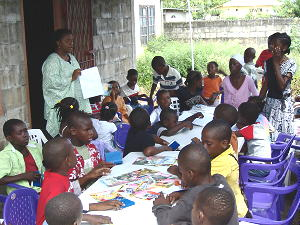 Marcia Dalfour provides education for the children
