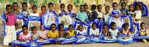 Children Receiving Mosquito Nets