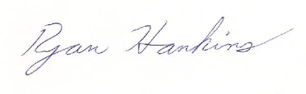 Ryan Hankins' Signature