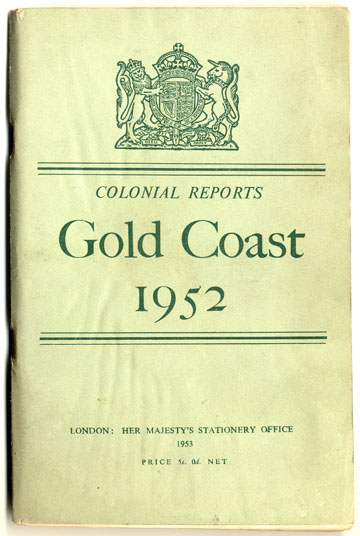 Gold Coast Colonial Reports, 1952