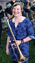 Katja with trombone