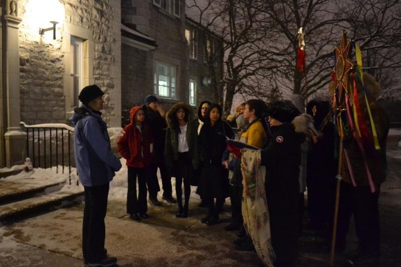 Carollers at PM Residence Jan 17, 2012