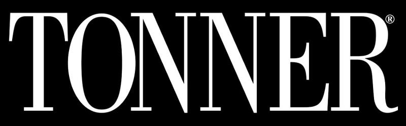 tonner logo white text