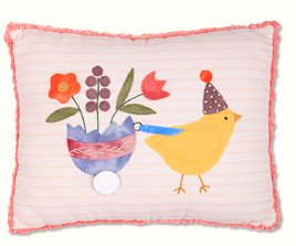 Chirp Chirp Wool Pillow