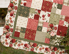 Scattered Roses Quilt Kit