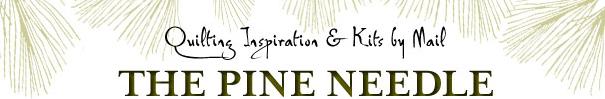 Pine Needle Banner