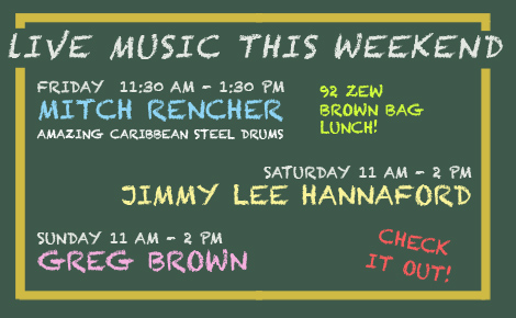 92 ZEW Brown Bag Caribbean Steel Drums! Plus Music for Holiday Weekend