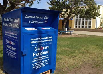 Book bin at Rogers