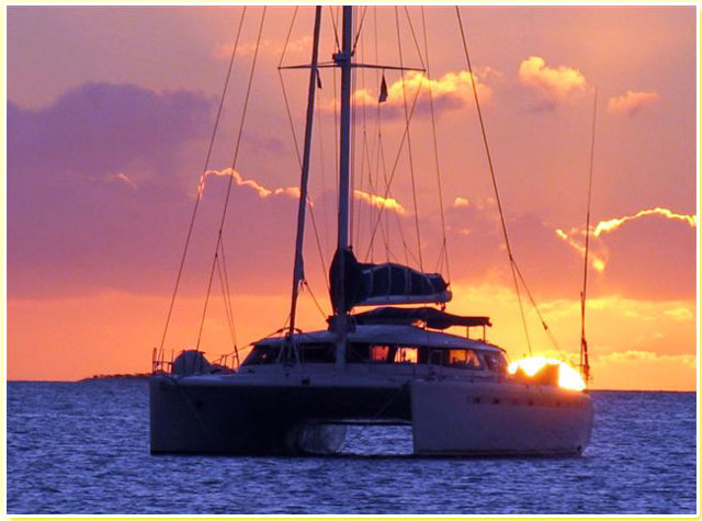 Catamaran Sunset