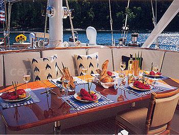 SEA ANGEL deck dining