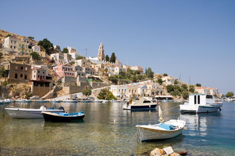 GREECE - SYMI WITH LOCAL BOATS