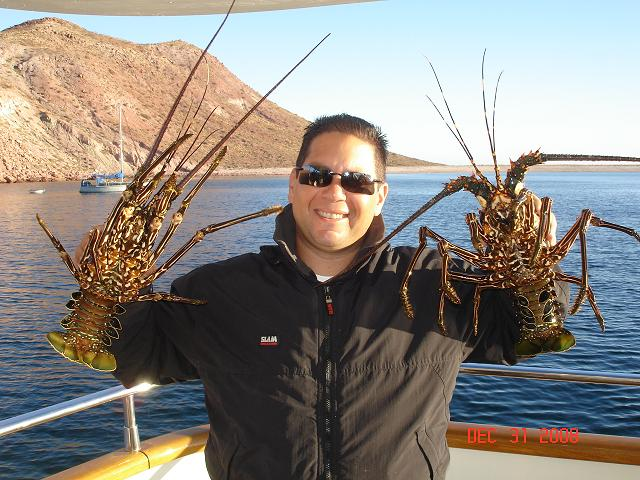 Capt Edgard with lobster