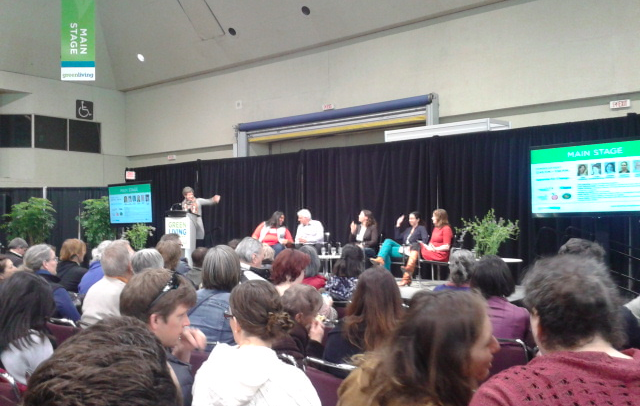 Food Waste Panel at the Green Living Show, taken by Josie Di Felice