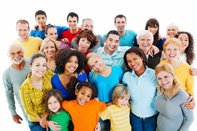 photo of diverse group of people