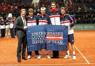 Isner at Davis Cup 2012