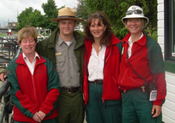 The Lois McClure crew is greeted by Parcs Canada