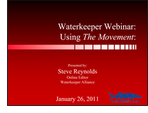 Waterkeeper Webinar: Using The Movement