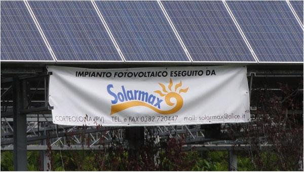 Solar installation, Floricultura Nursery, northern Italy.