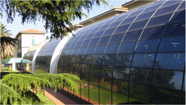 greenhouse, Meyer's Children's Hospital, near Florence, Italy
