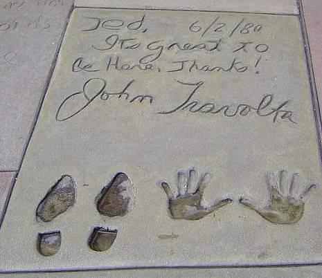 travolta handprint