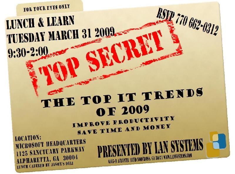 Top Secret Lunch & Learn