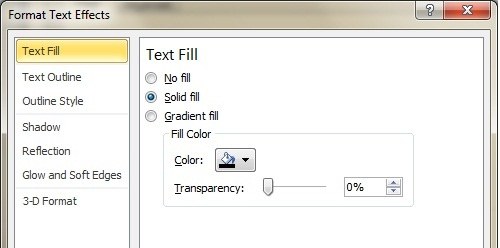Word Text Effects