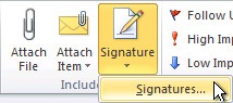 Outlook 2010 Signature