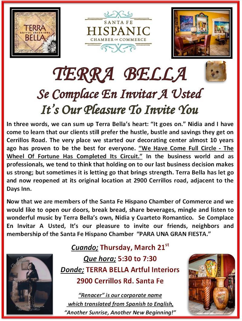 Terra Bella invitation