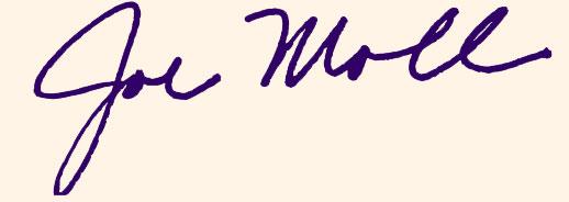 Joe Moll, Executive Director - Signature