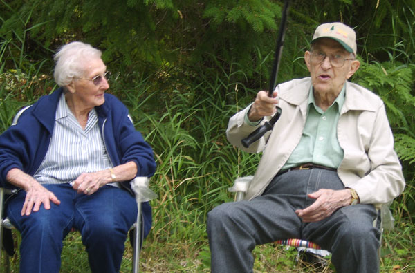 Mary Jane and Jim Drury in August 2007