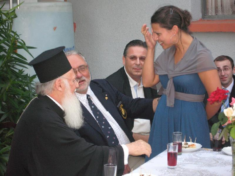 His All Holiness with Student