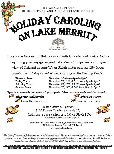 Lake Merritt Caroling