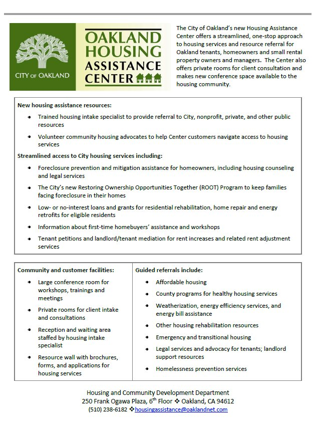 Oakland Housing Assistance Center