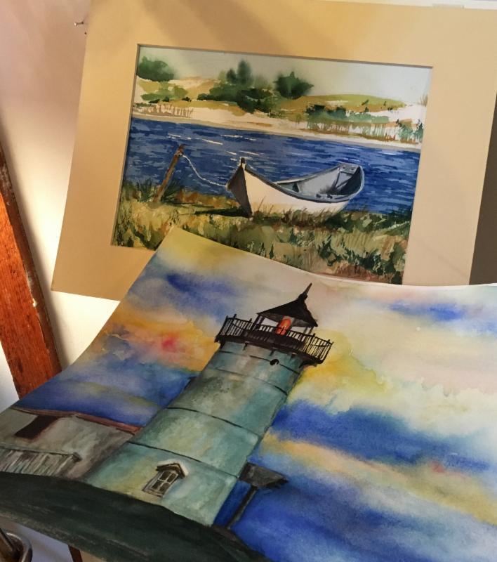 Annie Stone's watercolors