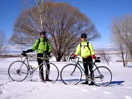 bike in winter