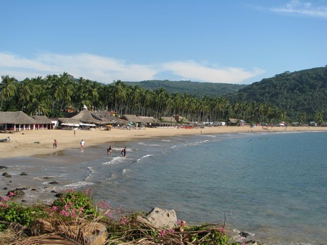 Chacala beach from the north