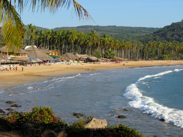 A view of the Chacala Beach