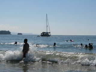 Chacala, Mexico, surf, sun, sailboat