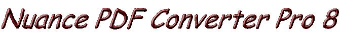 Nuance PDF Creator 8 Text