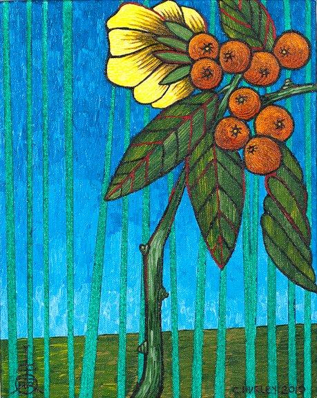 Berry Shrub & Reeds
