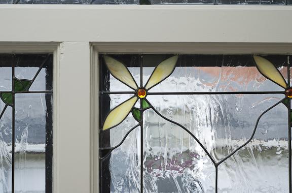Kiva Flower Stained Glass Detail