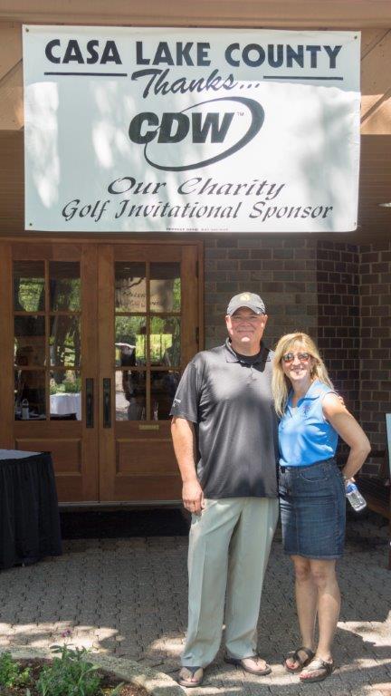 Jim Lillis of CDW and Terri Zenner Greenberg
