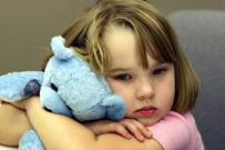 sad girl with bunny